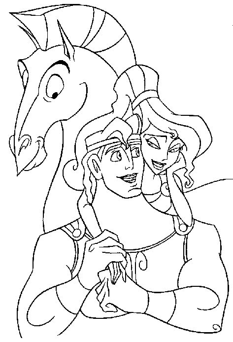 disney hercules coloring pages - photo#16