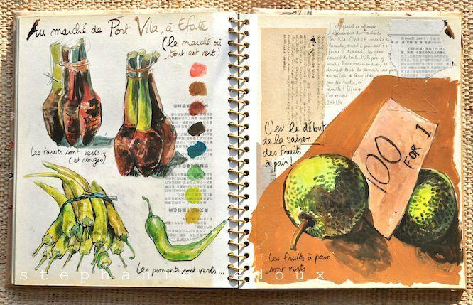 travel book sketch