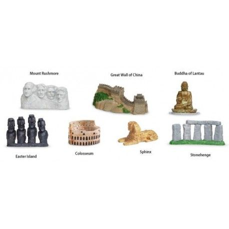 Safari Toob World Landmarks Toy Figure Playset