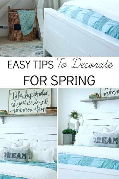 Easy Tips TO Decorate For Spring. No Need To run out and buy new decor, use what you already have! www.theruggedrooster.com spring decorating, easy decorating, simple springs tips.