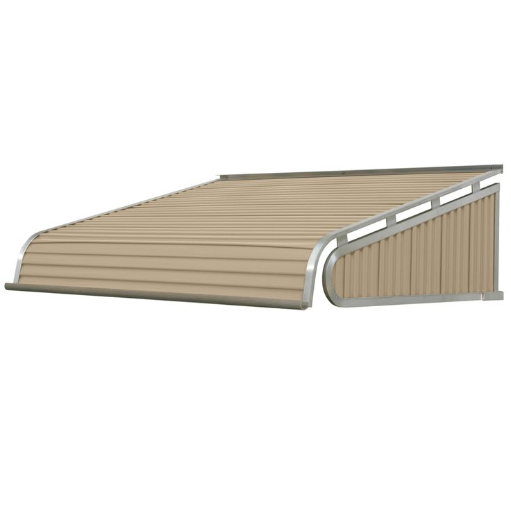 Nuimage Awnings 6 Ft 1500 Series Door Canopy Aluminum Awning 12 In H X 42 In D In Almond K150707205 The Home Depot In 2020 Aluminum Awnings Door Canopy Aluminium Doors