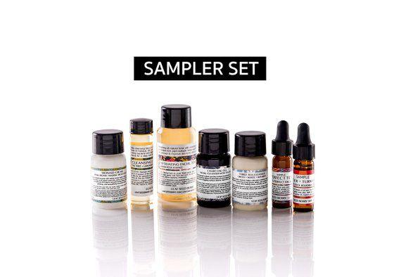 Natural Skincare Samples Set, Natural Skin Care, Skin Care Set, Organic Skincare, Face Cleanser, Fac