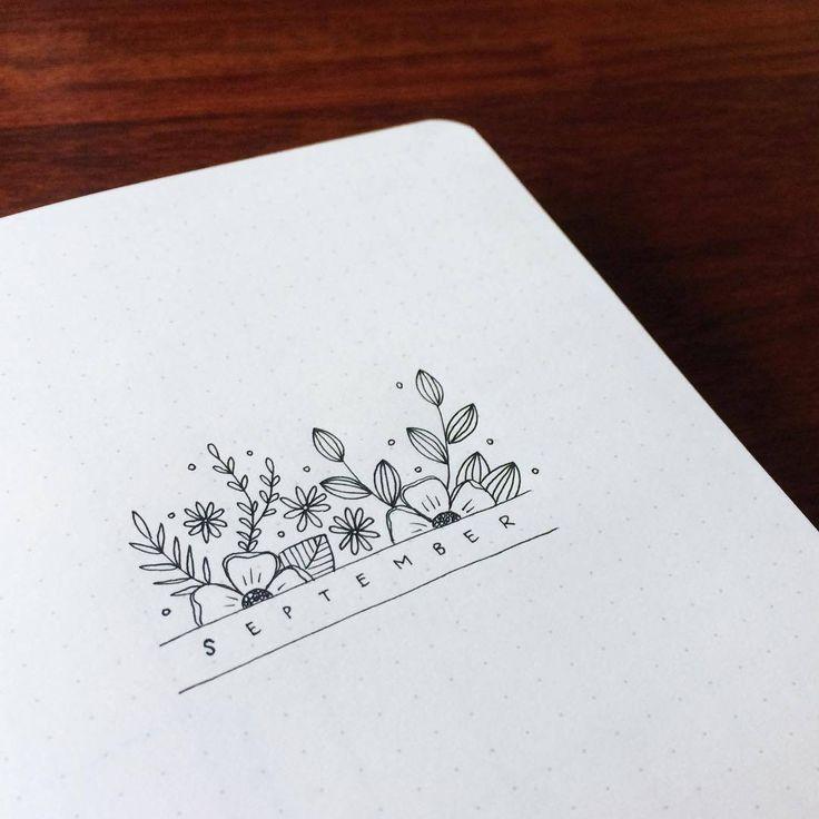Einfach einfach und übersichtlich verbreiten die Ideen für Bullet Journaling