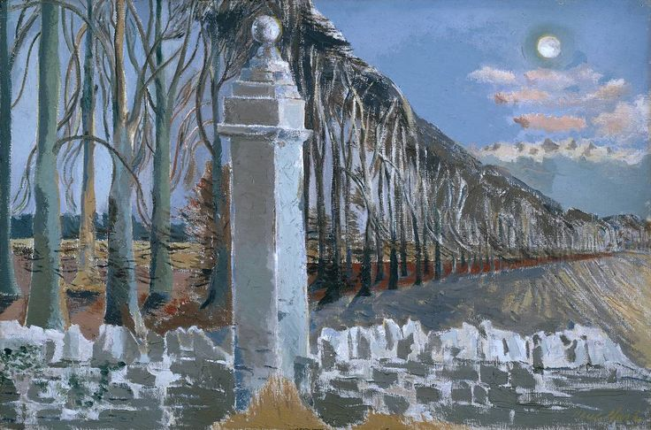 'Pillar and Moon', Paul Nash | Tate. One of my all time favourite paintings. My brilliant art teacher got me into Paul Nash. I used to visit the places Paul Nash painted in England and paint my own versions of the same landscapes. His landscape pictures seem to be about dreams.
