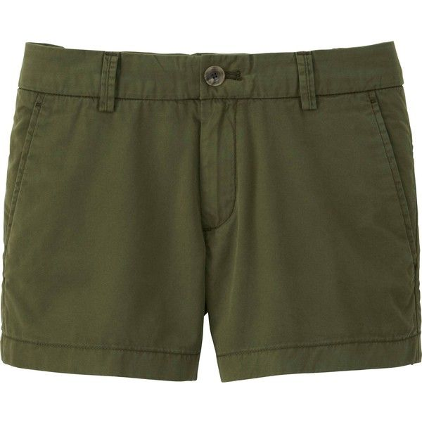 UNIQLO Women Chino Micro Shorts ($20) ❤ liked on Polyvore featuring shorts, hot pants, hot shorts, short shorts, micro shorts and mini short shorts