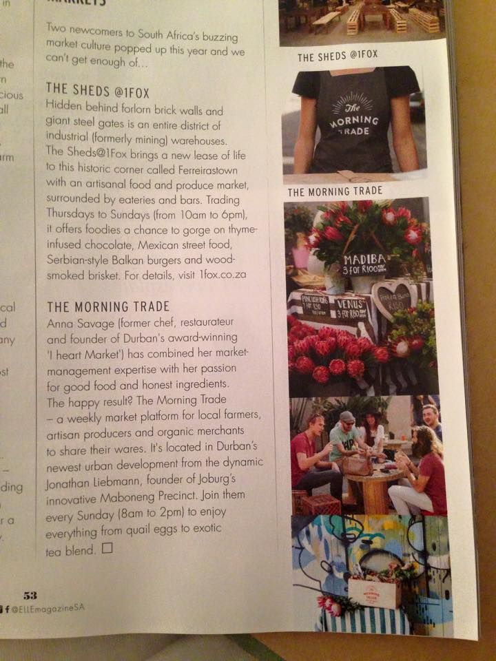 Snippet on The Morning Trade in Elle Magazine SA