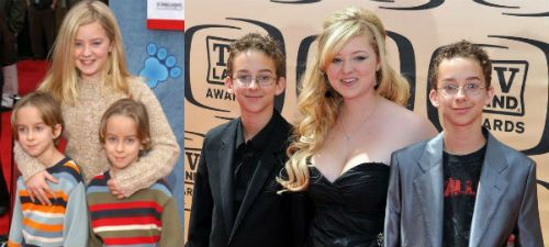 Madylin Sweeten and her twin brothers Sullivan and Sawyer. They played  Ally, Michael and Geoffrey Barone on Everybody Loves Raymond