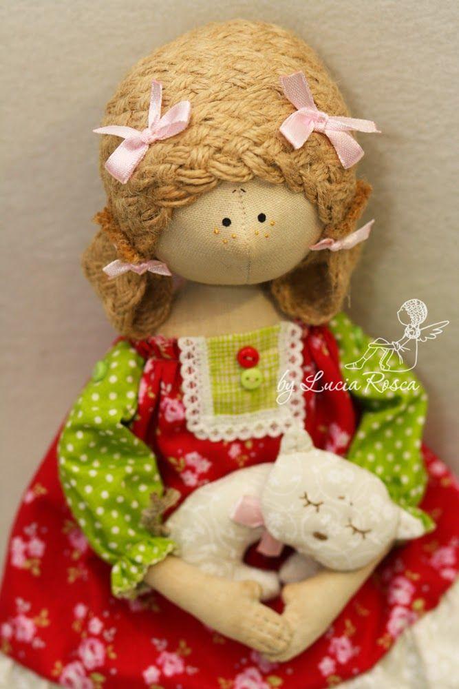 Lucias handmade СердеШная девочка с кисей