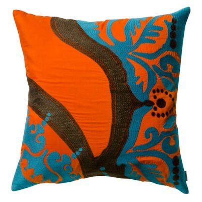 Koko Company 18 in. Coptic Square Pillow - Orange - 91913