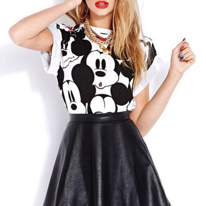 skirt shirt кроссовки red lipstick white black disney mickey mickey mouse graphictee t-shirt dress skater skirt minnie black and white black leather skirt cute skirt top t-shirt mickeymouse tumblr necklace crop tops leather crop-tops body suit top mickey mouse shirt b&w mickey mouse sweater gold nail polish gold chains red gold chain gold jewelry dark lipstick micky mouse micky mouse shirt hoop earrings shiny black colourful nail varnish grunge fashion rolled sleeves blacl and white blouse…