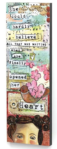 Kelly Rae Robinson | She Opened Her Heart Wall Art by Kelly