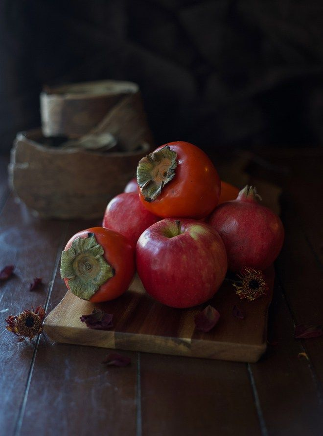 Brussel Sprouts with Apple Persimmon and Pomegranate ~ a delicious dish everyone will love!