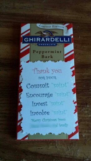"Thank you for Your Commit ""mint"" Chocolate Gifts ideas for professor"