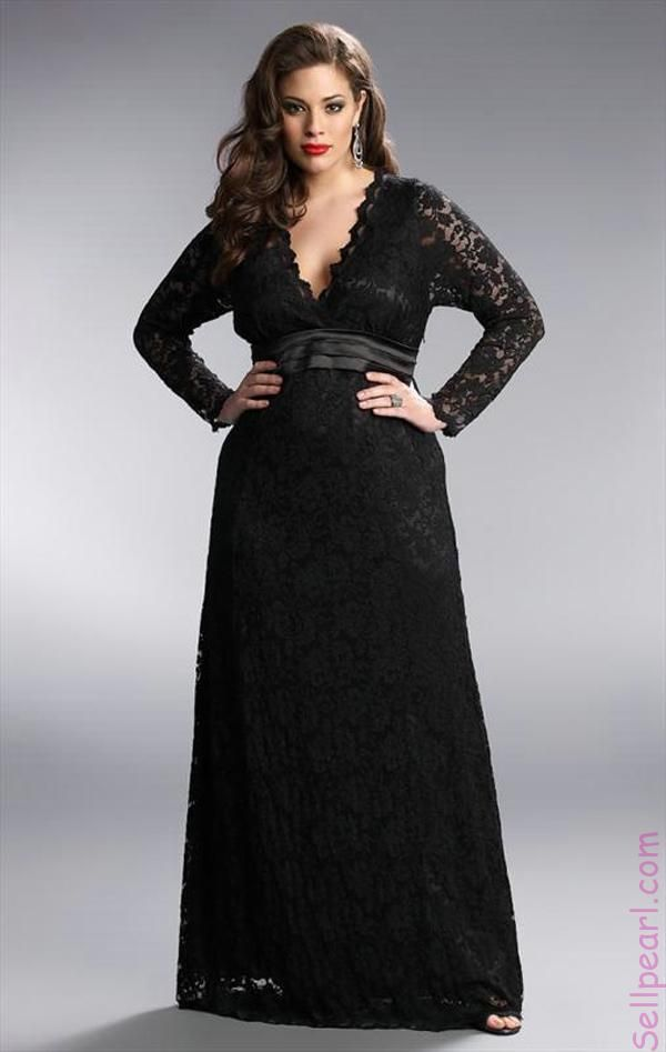 78 Best images about Long sleeve gowns on Pinterest  Plus size ...