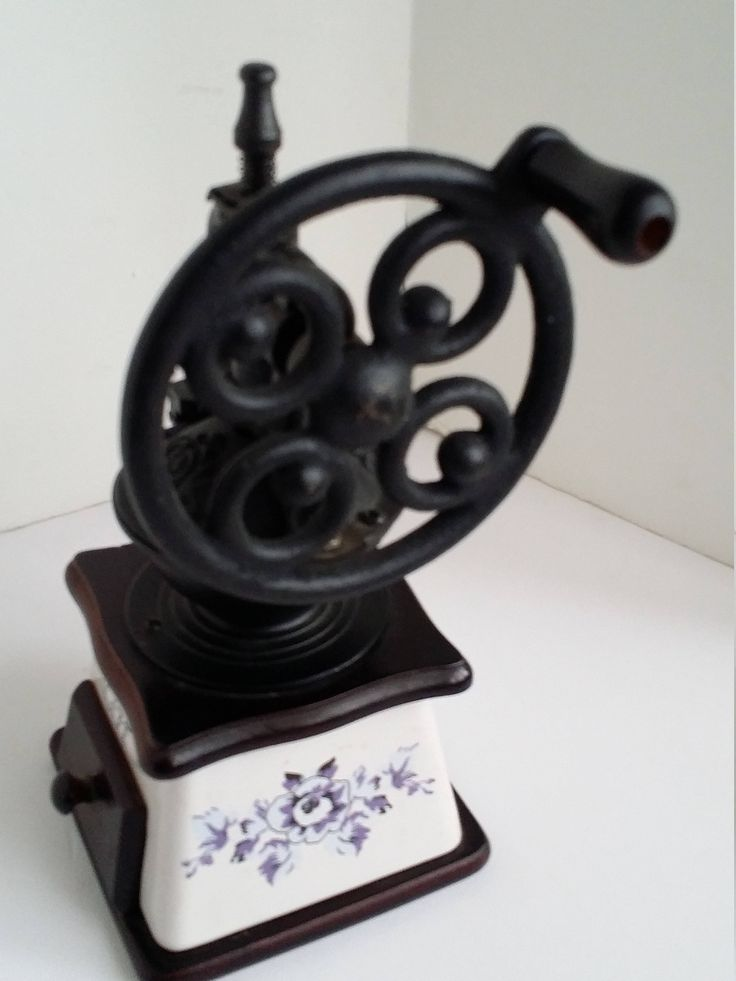 Vintage French Coffee Mill, Cast Iron Porcelain Wood Coffee Grinder Kitchen Decor Country Farmhouse  Photo Prop Collectible Decoration by colonialcrafts on Etsy