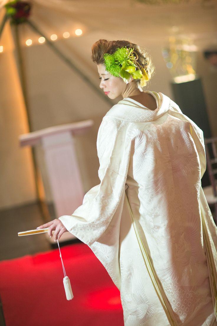 和装人前式 挙式会場白無垢に身を纏って