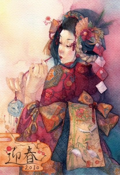 japanese art | Tumblr love this color palette