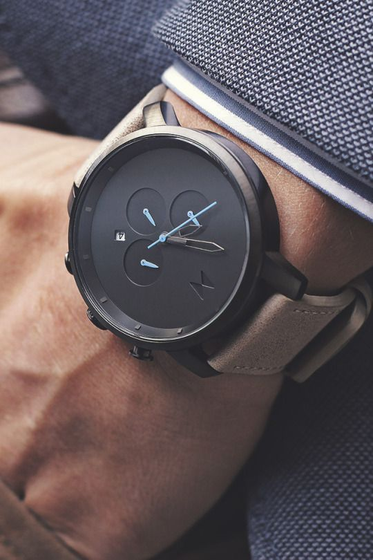 themanliness: The Black Chrono from MVMT Watches. Check out all the models on…