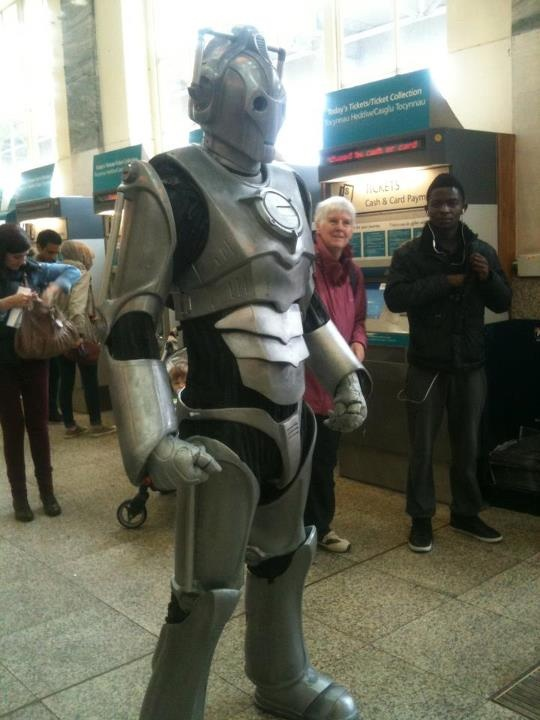 #Cyberman spotted at Cardiff station