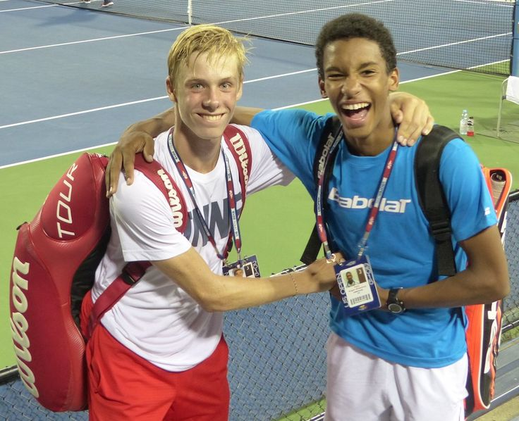 Félix Auger-Aliassime and Denis Shapovalov are the 2015 US Open Junior Boys doubles champions... It was the first Grand Slam event for Auger-Aliassime, 15, and the third for Shapovalov, 16. - via tenniscanada.com/tebbutt