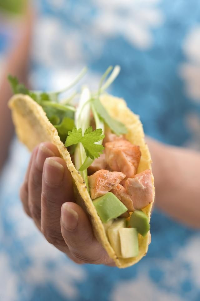 Buffalo Chicken Tacos are super quick and easy to make and full of flavor, made with hot sauce, celery, onions, and blue cheese salad dressing.
