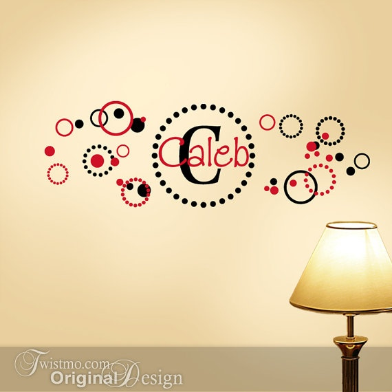 10 best Names & Monograms Wall Decals images on Pinterest | Baby ...