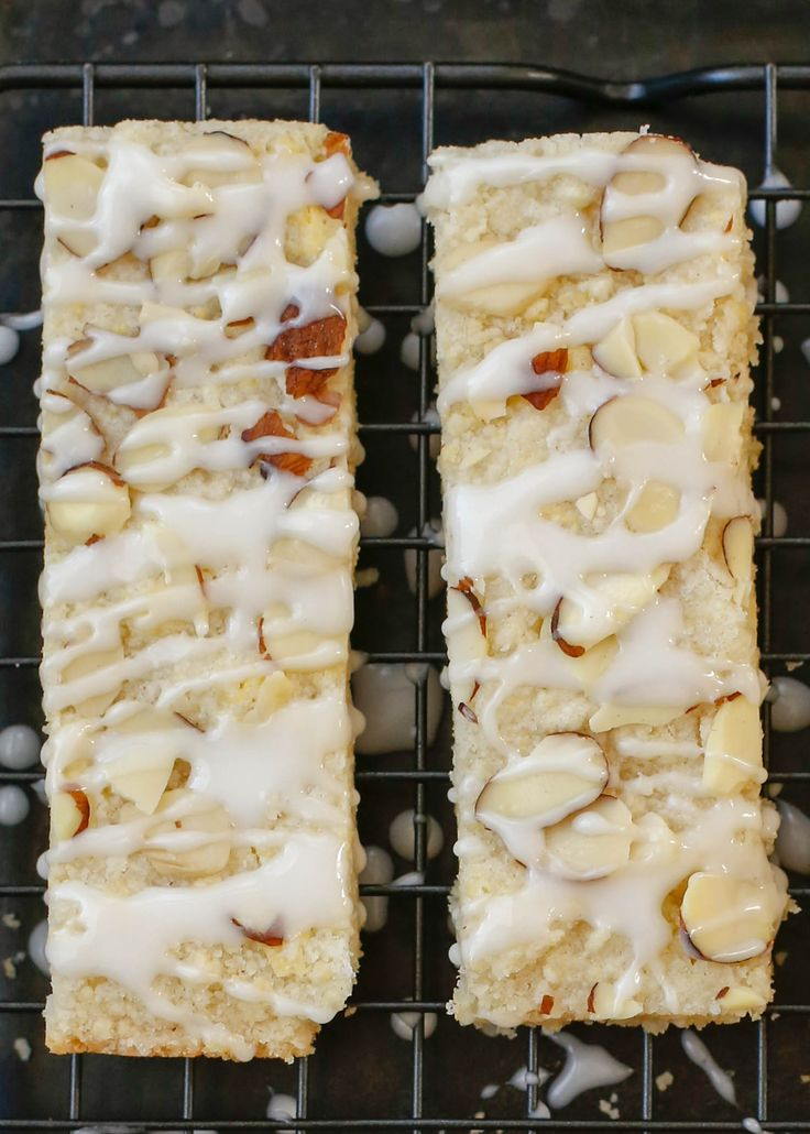 Almond Bars are everyone's favorite shortbread! get the recipe at barefeetinthekitchen.com