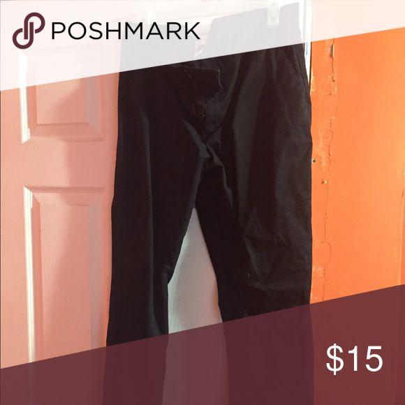 Gap black khaki pants Black khaki pants, only worn a few times. GAP Pants Straight Leg