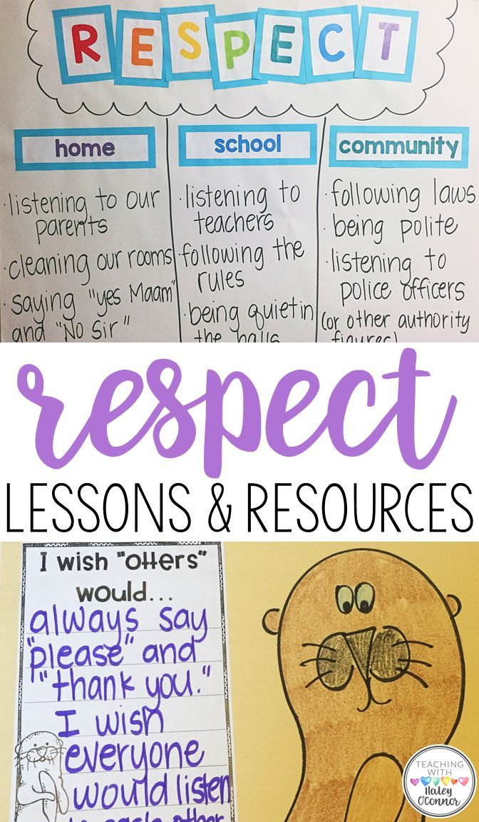 The  Best Respect Lessons Ideas On   Teaching Respect