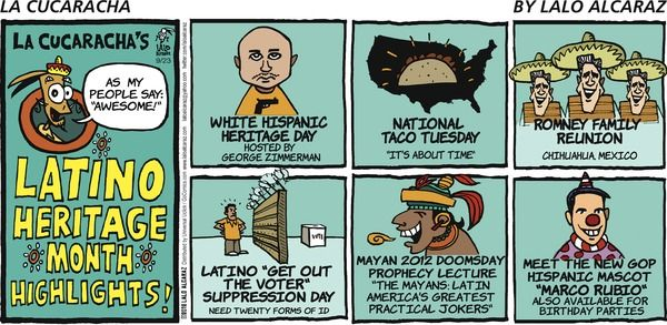 Cha! la cucaracha comic strip