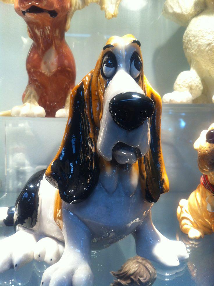 Charley Farley Bassett hound statue! $80.00