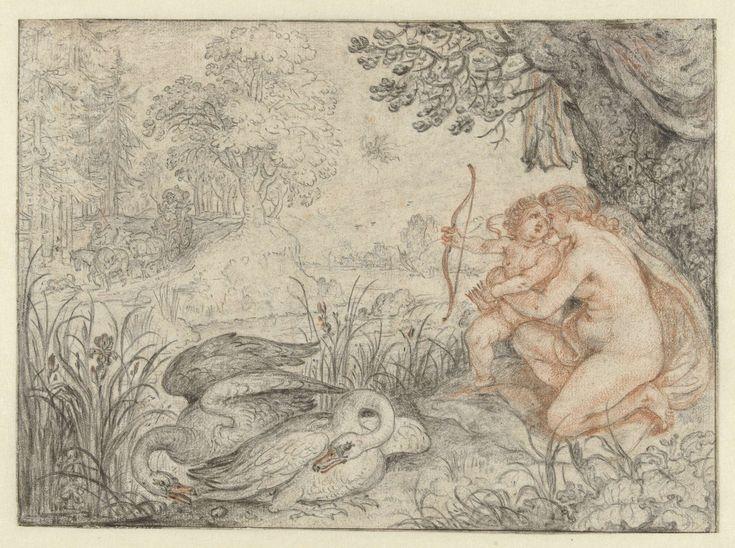 Venus vraagt Cupido zijn pijl op Pluto af te schieten, Roelant Savery, 1586 - 1639
