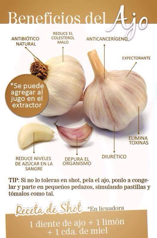 ¡Beneficios del ajo!