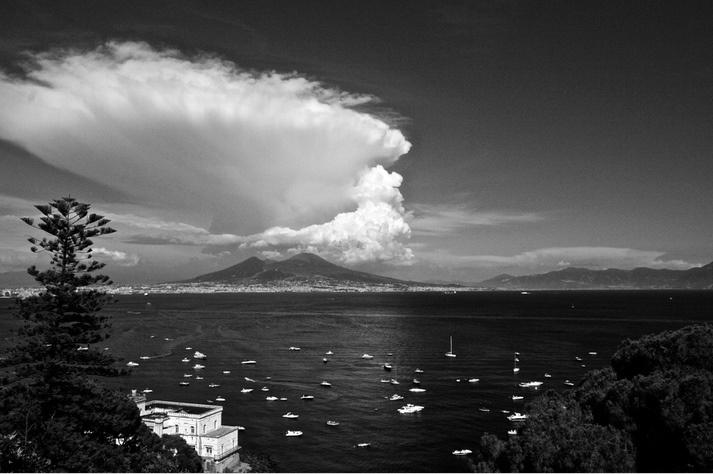 Mount Vesuvius from Posillipo in #Naples  #pompeii #vesuvius #vesuvio #faunopompei #travel #italy #napoli #volcano #ruins #mountvesuvius #pompei #mountain #excursions #travel #italy #faunopompei #naples #posillipo