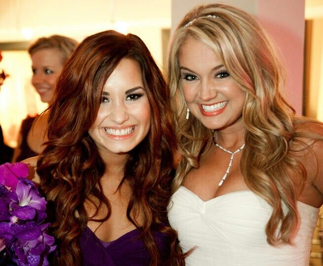 Demi Lovato At Tiffany Thornton Wedding