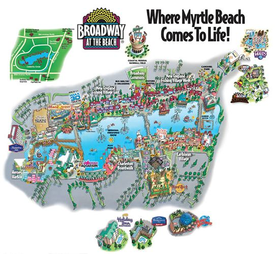 Map Of Broadway At The Beach I loved Myrtle Beachone of the best Hard Rock Cafe's ever  Map Of Broadway At The Beach