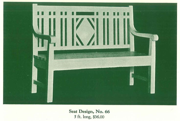 """Pretty garden bench from """"The Pergola,"""" by Hartmann Sanders, published in 1928."""