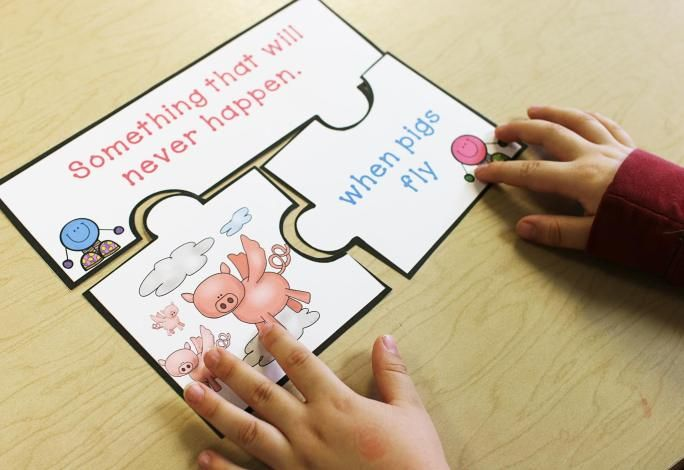 Idioms A Form of Figurative Language. These idiom puzzles help students understand the literal meaning of the idiom. Each puzzle has 3 parts.