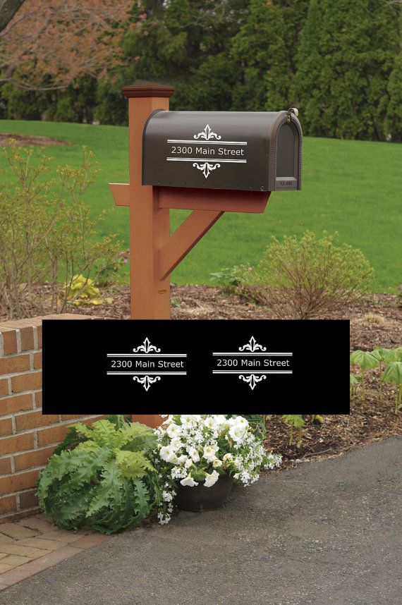 mailbox vinyl designs. mailbox address vinyl decal set of 2 decals can be applied to wood metal glass any smooth semismooth surface measures 8 wide x 5 tall designs