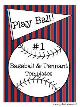 These editable baseballs and pennants are great for teachers and team moms alike! in the classroom, they're great for desk or name tags, brag tags, bulletin boards, and custom centers! On the field, you can decorate the dugout