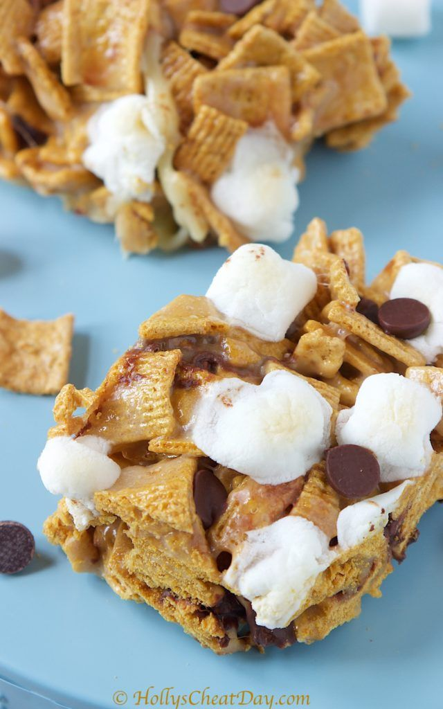 Golden Graham S'mores Bars - HOLLY'S CHEAT DAY