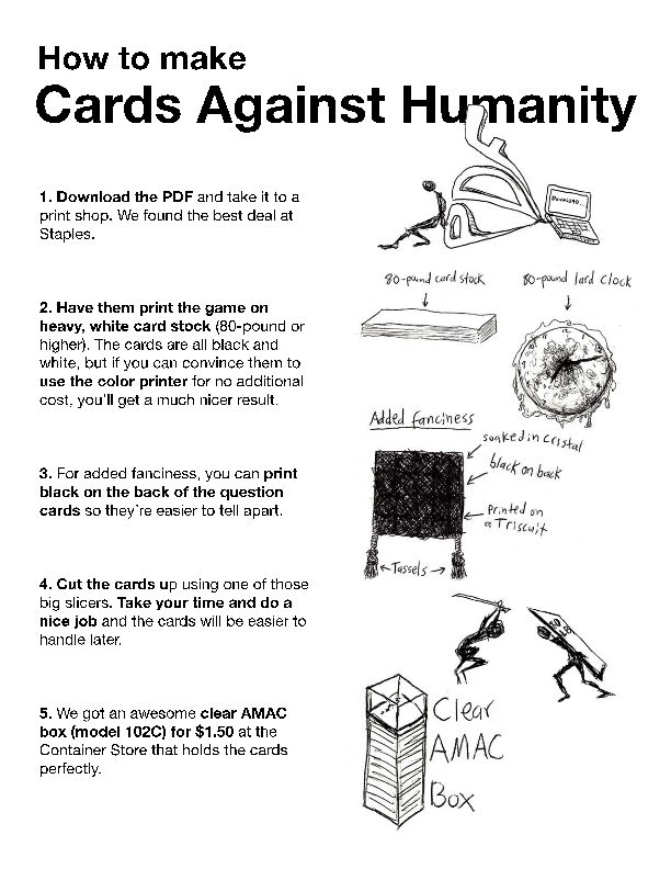 This is an image of Revered Cards Against Humanity Print