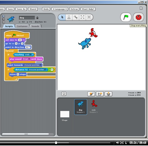 Scratch dog and crab game from Redware  | Coding | Teaching