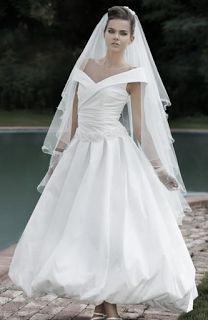 MERCATINO MICHELA BERGAMO: Abito da sposa stile anni 50 ...alla caviglia a pa...