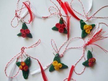 buchetel trandafiri -martisor fimo