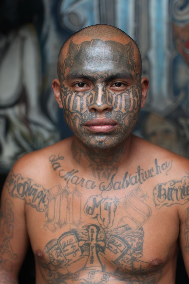 """The Mara Salvatrucha gang are so feared in El Salvador, with a reputation for merciless revenge and cruel retribution, that they've been allowed to run their own prison. """"Penas Ciudad Barrios is a maximum security prison for members of the Mara Salvatrucha Gang, or MS, in the South of El Salvador,"""" London- based photographer Adam Hinton explained, who was brave enough to go into the compound to take portraits of some of the inmates."""