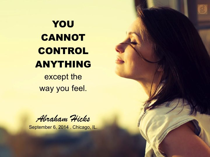 Is that true? Control is an issue,how we feel about giving up control,there in lies the challenge.