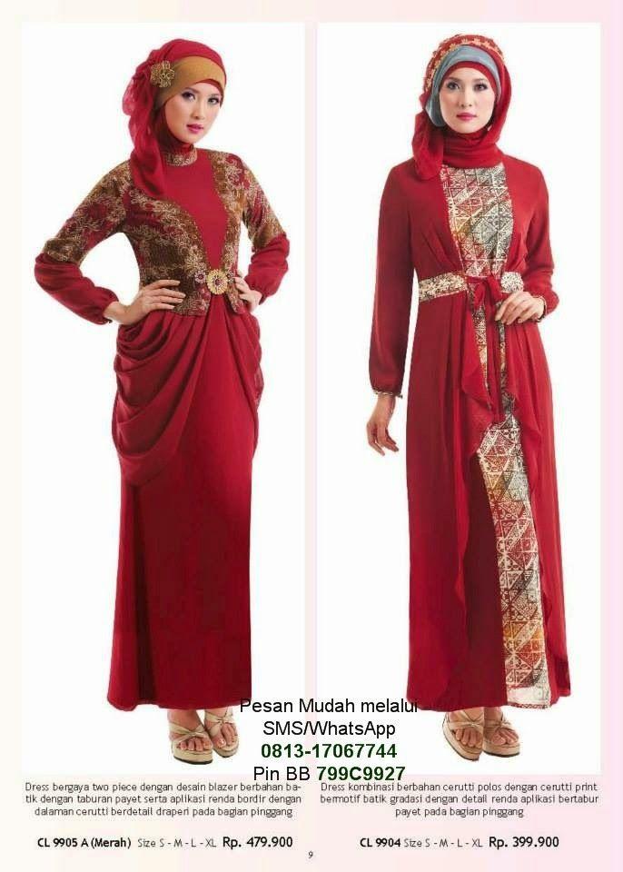 Gamis modern terbaru 2014 cantik berbaju muslim gamis Gambar baju gamis pesta 2014