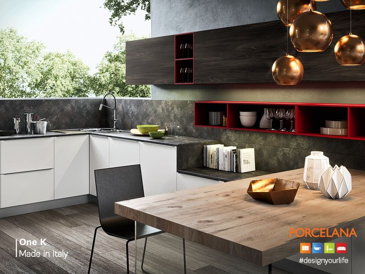 H κομψότητα, η έμφαση στο #design και η λειτουργικότητα, αποτελούν χαρακτηριστικά στοιχεία της Ιταλικής κουζίνας One K! Διαθέσιμη στα καταστήματα #Porcelana! www.porcelana.gr