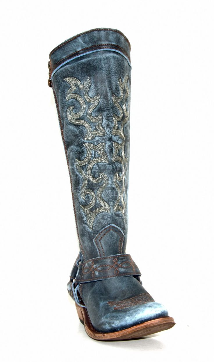 Distressed Leather Boot with Outside Zipper. An Isshoes Boutique Favorite! So Comfy!